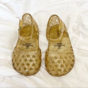 Gold Glitter Jelly Sandals 12 - 18 months